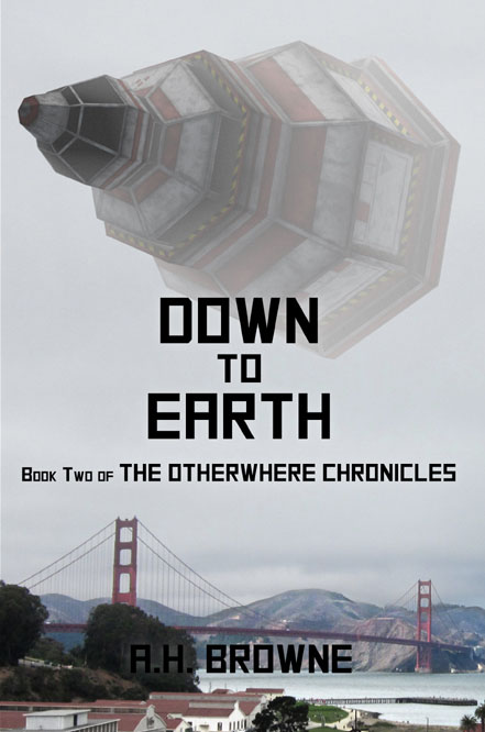 a book cover down to earth