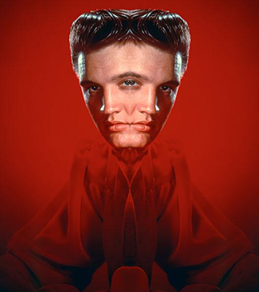 American singer Elvis Presley